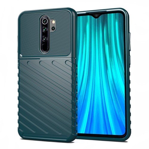 Thunder Case Flexible Tough Rugged Cover TPU Case for Xiaomi Redmi 9 green