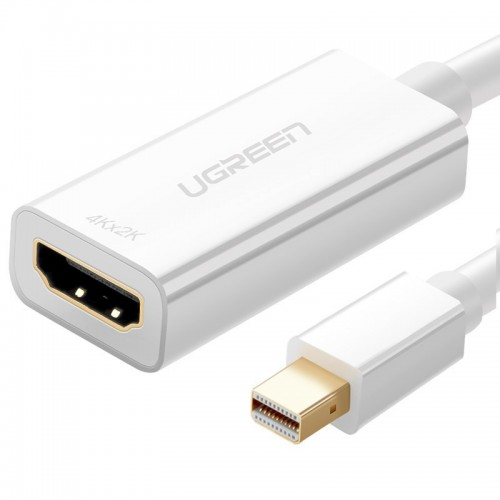 Ugreen 4K HDMI (female) - Mini DisplayPort (male - Thunderbolt 2.0) adapter cable white (MD112 10460)