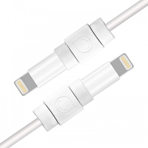 Ugreen 6x protective cable plug cover for Lightning original cable white (40705)