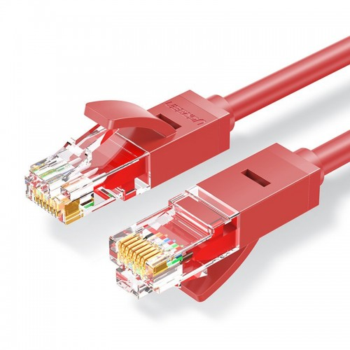 Ugreen Ethernet patchcord cable RJ45 Cat 6 UTP 1000Mbps 1 m red (NW102 80829)