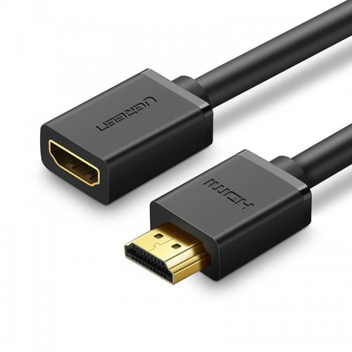 Ugreen HDMI (female) - HDMI (male) extension cord cable 19 pin 1.4v 4K 60Hz 30AWG 2m black (10142)