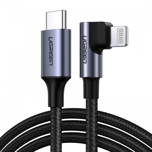 Ugreen MFI Elbow USB Type C - Lightning Cable Power Delivery 3 A 1,5 m gray (60764 US305)