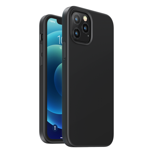 Ugreen Protective Silicone Case Soft Flexible Rubber Cover for iPhone 12 Pro Max black
