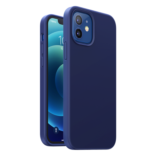 Ugreen Protective Silicone Case Soft Flexible Rubber Cover for iPhone 12 Pro / iPhone 12 navy blue