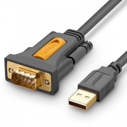 Ugreen USB - RS-232 (male) adapter cable 1 m black (CR104 20210)