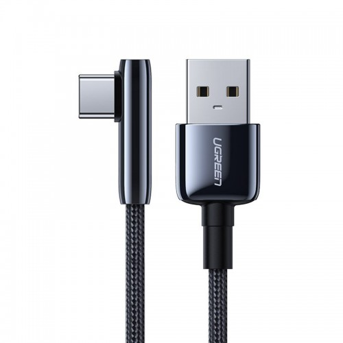 Ugreen elbow USB - USB Typ C cable 5 A Quick Charge 3.0 AFC FCP 0,25 m black (70430 US313)