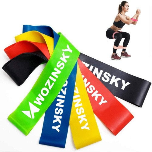 Wozinsky Exercise Bands Resistance Loop Band, Rubber Elastic Strength Training Equipment for Home Gym (WRBS5-01)