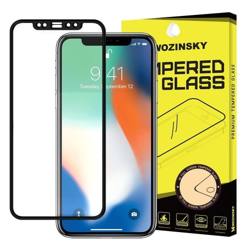 Wozinsky PRO+ Tempered Glass 5D Full Glue Super Tough Screen Protector Full Coveraged with Frame for iPhone 11 Pro Max / iPhone XS Max black