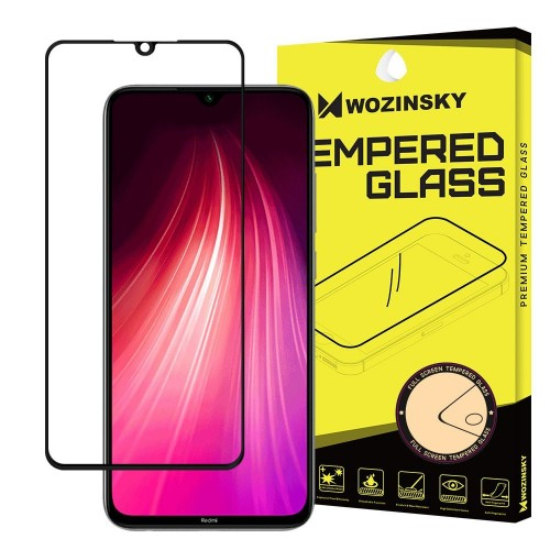 Wozinsky Tempered Glass Full Glue Super Tough Screen Protector Full Coveraged with Frame Case Friendly for Xiaomi Redmi 9C transparent