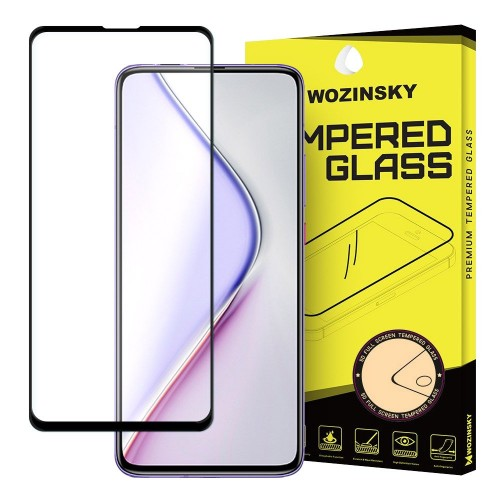 Wozinsky Tempered Glass Full Glue Super Tough Screen Protector Full Coveraged with Frame Case Friendly for Xiaomi Redmi K30 Pro / Poco F2 Pro black