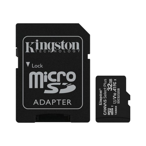 Kingston memory card microSDHC Canvas Select Plus (32GB   class 10   UHS-I   100 MB/s) + adapter