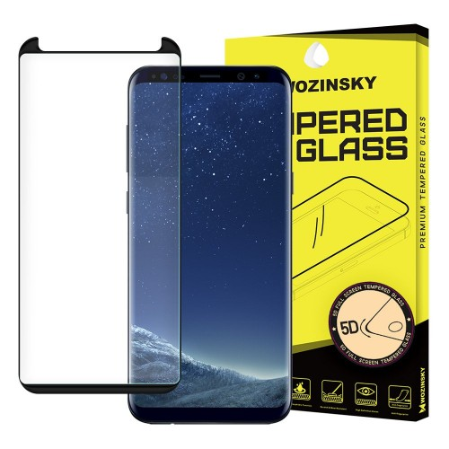 Wozinsky Tempered Glass 5D Full Glue Super Tough Screen Protector Full Coveraged με Frame για Samsung Galaxy S9 Plus (G960) μαύρο