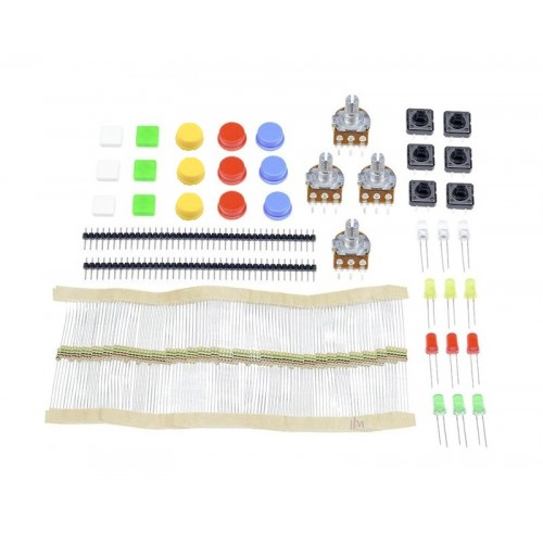 Arduino Parts Kit (Resistor/Potentiometer/Tact Switch/LED)